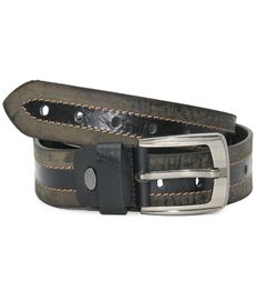 GREY CASUAL LEATHER BELT