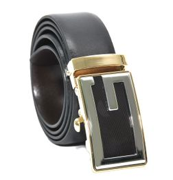 GENUINE LEATHER BELT WITH DESIGNER AUTO-LOCK BUCKLE