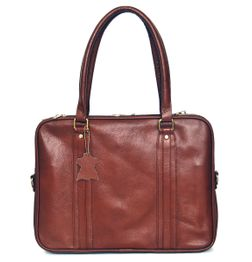 DESIGNER SIENNA BROWN LEATHER LAPTOP BAG