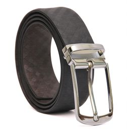 FORMAL REVERSIBLE LEATHER BELT CHROME TONE BUCKLE