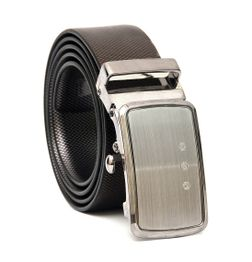 BUSINESS REVERSIBLE LEATHER BELT WITH AUTO LOCK BUCKLE
