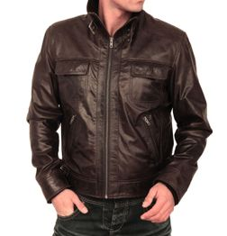 CLASSIC FIT BROWN LEATHER JACKET