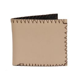 VINTAGE STYLE LEATHER WALLET - IVORY
