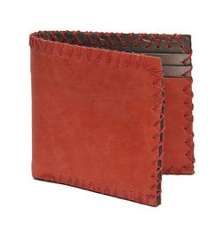 HIDEMARK VINTAGE SUEDE LEATHER WALLET RED