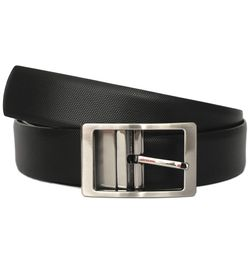 SILON BLACK-BROWN REVERSIBLE LEATHER BELT