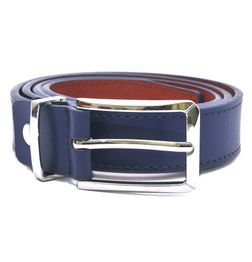 HIDEMARK LEATHER BELTS FOR WOMEN CLASSIC BUCKLE - COBALT BLUE