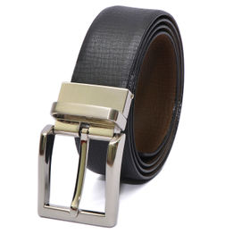 BLACK-BROWN REVERSIBLE BELT WITH TURN BUCKLE