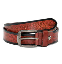 RED LEATHER CASUAL BELT