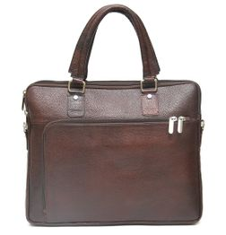 HIDEMARK DESIGNER BROWN LEATHER OFFICE LAPTOP BAG