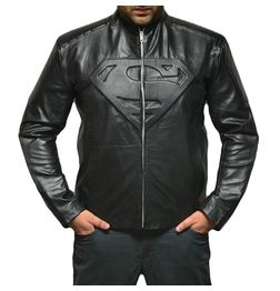HIDEMARK SUPERMAN LEATHER JACKET - SMALLVILLE (BLACK)