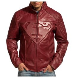 HIDEMARK SUPERMAN LEATHER JACKET - SMALLVILLE (MAROON)