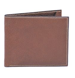 HIDEMARK STYLISH TEXTURED LEATHER WALLET IN BROWN