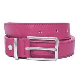 HIDEMARK LEATHER BELTS FOR WOMEN CLASSIC BUCKLE - FUCHSIA