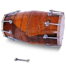 SG Musical Bolt-Tuned Dholak, Shesham Wood, Free Carry Bag,Tuning Spanner