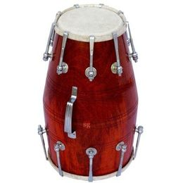 SG Musical Dholak,Sheesham Wood, Bolt-Tuned,Free Tuning Spanner,Carry Bag