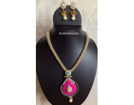 Ethenic Necklace Set- Pink