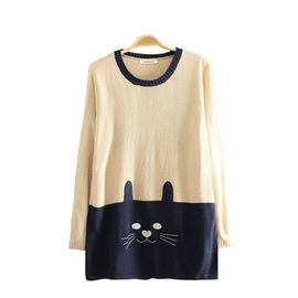 Two Toned Kitty Pullover
