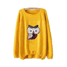 Mustard Owl Sweater