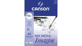 Canson Imagine 200 GSM A1 Pad of 25 Light Grain Sheets