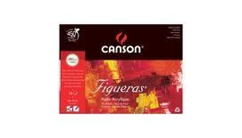Canson Figueras 290 GSM 24 x 33 cm Pad of 10 Canvas Grain Sheets