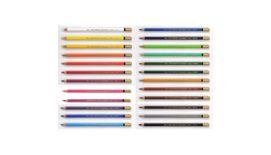 Koh-I-Noor Mondeluz Artist's Water Soluble Coloured Pencils - Assorted - Set of 24