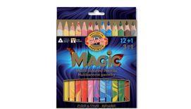 Koh-I-Noor Magic Artist's Multicoloured Pencils - Set of 12+1 Assorted Colours