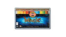 Koh-I-Noor Magic Artist's Multicoloured Pencils - Set of 23+1 Assorted Colours in Tin Box