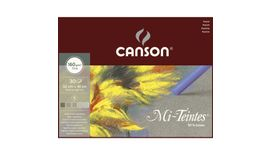 Canson Mi-Teintes 160 GSM 32 x 41 cm Album of 30 Honeycomb & Fine Grain Sheets - Grey Tones