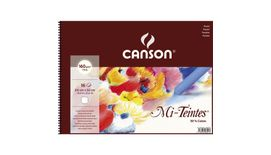 Canson Mi-Teintes 160 GSM 24 x 32 cm Album of 30 Honeycomb & Fine Grain Sheets - White