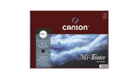 Canson Mi-Teintes 160 GSM 24 x 32 cm Album of 16 Honeycomb & Fine Grain Sheets - Black
