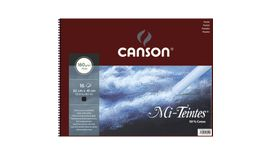Canson Mi-Teintes 160 GSM 32 x 41 cm Album of 16 Honeycomb & Fine Grain Sheets - Black