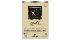 Canson XL Kraft 90 GSM A3 Album of 60 Laid Texture Sheets