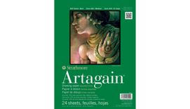 Strathmore 400 Series Artagain 9''x12'' 6 Assorted Tints Light Grain 160 GSM Paper, Short-Side Glue Bound Pad of 24 Sheets