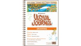 Strathmore 400 Series Visual Journal - Drawing - 9''x12'' - Cream - Fine Grain - 163 GSM Paper, Long-Side Spiral Bound - 84 Sheets