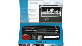 General's Primo Euro Blend Charcoal Drawing Set - Art Set of 12 Pieces