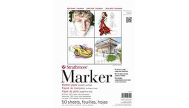 Strathmore 500 Series Marker 9''x12'' Semi-Transparent Extra Smooth 50 GSM Paper, Short-Side Tape Bound Pad of 50 Sheets