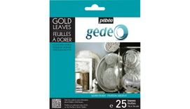 Pebeo Gedeo Gold Leaves - Silver - 14 X 14 cms - Pack of 25