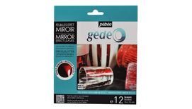 Pebeo Gedeo Mirror Effect Leaves - Red - 14 X 14 cms - Pack of 12