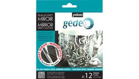 Pebeo Gedeo Mirror Effect Leaves - Silver - 14 X 14 cms - Pack of 12