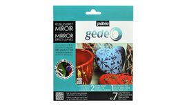 Pebeo Gedeo Mirror Effect Leaves - 14 X 14 cms - 7 Assorted Leaves