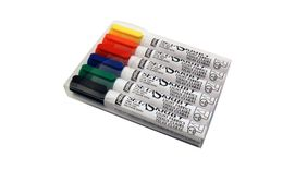 Pebeo SetaSkrib+ Light Fabrics Marker - Brush Tip (1 mm) - Assorted Set of 6 Fabric Markers