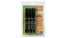 Manuscript Callicreative 4 Assorted Italic Marker Pens - Fine