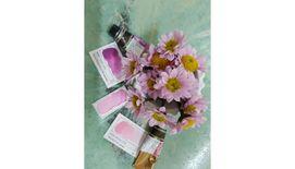 Mijello Mission Gold Class Professional Grade Extra-Fine Watercolour  - Brilliant Pink (555) - 15 ml
