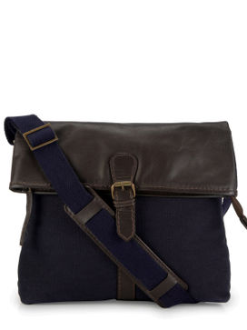Men's Leather Messenger Bag - PR1114
