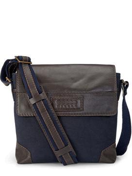 Men's Leather Messenger Bag - PR1153