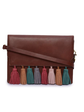 Women's Leather Crossbody Bag - PRU1368