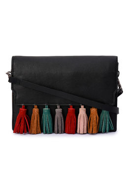 Women's Leather Cross Body Bag - PRU1397