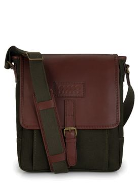Men's Leather Messenger Bag - PR1107
