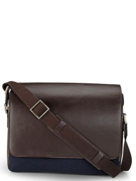 Men's Leather Messenger Bag - PR1109