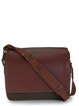 Men's Leather Messenger Bag - PR1110